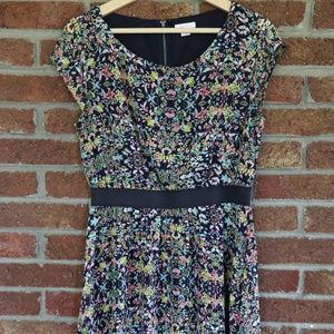Ladies Floral Dress * From Target * Navy Size Med